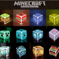 Alarm Clock With LED Cartoon Game Minecraft Action Toy Figures Night Light Minions Electronic Toys Creeper