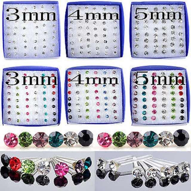 WLP colorful stud Pairs Fashion New Simple Crystal Earrings Mix Color Plastic Ear Stud Earring Sets For Women Jewelry Bijoux