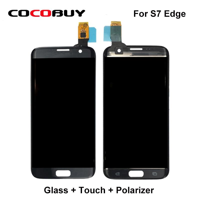 Lentille en verre Novecel + écran tactile + polarisant pour Samsung Galaxy S7 Edge G935