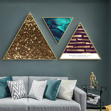 Abstract Wall paintings Light luxury style Bedroom hanging painting frame Creative living room Nordic Ins Decorative