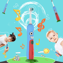BLYL Brand Child Children Rotation Cartoon penguin design Dental Care Rechargeable Electric Toothbrush Kids Children Tooth Brush