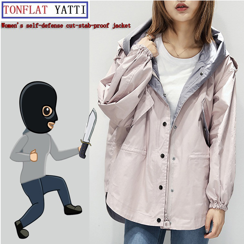Woman Self DefenseTactical Gear Anti Cut Knife Cut Resistant Jacket Anti Stab Proof Long Sleeved Military Security Clothin Coat