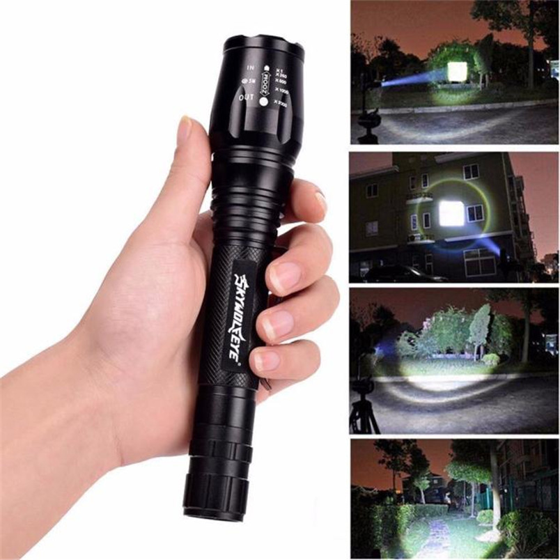 Zoomable Tactical 4000 Lumen 5 Modes CREE XML T6 LED Torch Lamp Light 18650 NOJ06 3 modes cree xml t6 mini led flashlight torch 1200lm xml t6 flash light zoomable mini flashlights led lamp no 18650 battery