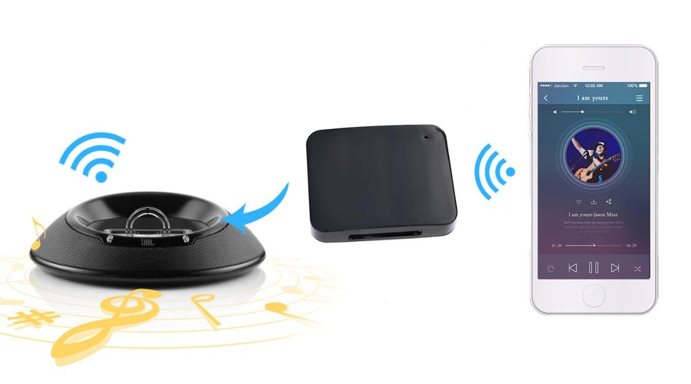 FUWUDIYI 5 0 Bluetooth Audio Adapter 30pin Wireless Bluetooth Receiver Dock  Adapter Stereo for Bose Sounddock Portable Speaker
