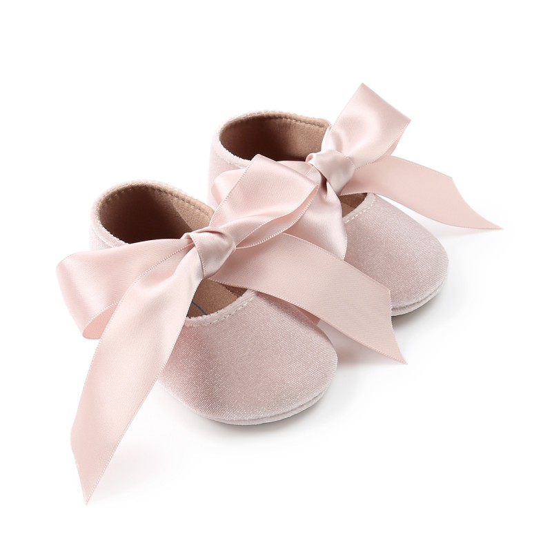 Cute Baby Girl Shoes Spring Shoes Butterfly Knot Soft Non-slip Footwear Crib Cotton First Walker Newborn Baby Shoes