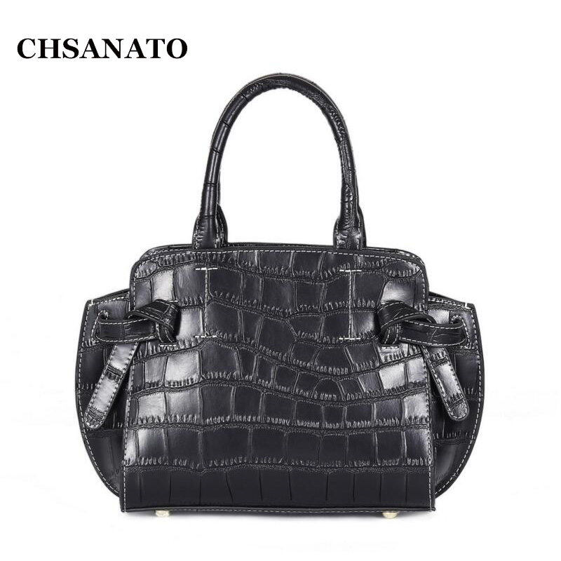 CHSANATO Women Crocodile Pattern Handbag Cow Leather Ladies Shoulder Bag Black Female Hobos Bag Alligator Handbag Messenger BagsCHSANATO Women Crocodile Pattern Handbag Cow Leather Ladies Shoulder Bag Black Female Hobos Bag Alligator Handbag Messenger Bags