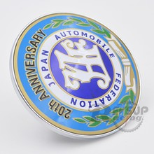ID: 90mm Universal Colorful JDM Front Grille Badge Decal 20th Anniversary JAF Badge Emblem(China)