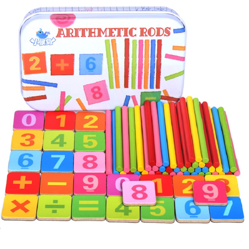 Montessori Educational Math Toy Including 50pcs Wooden ...