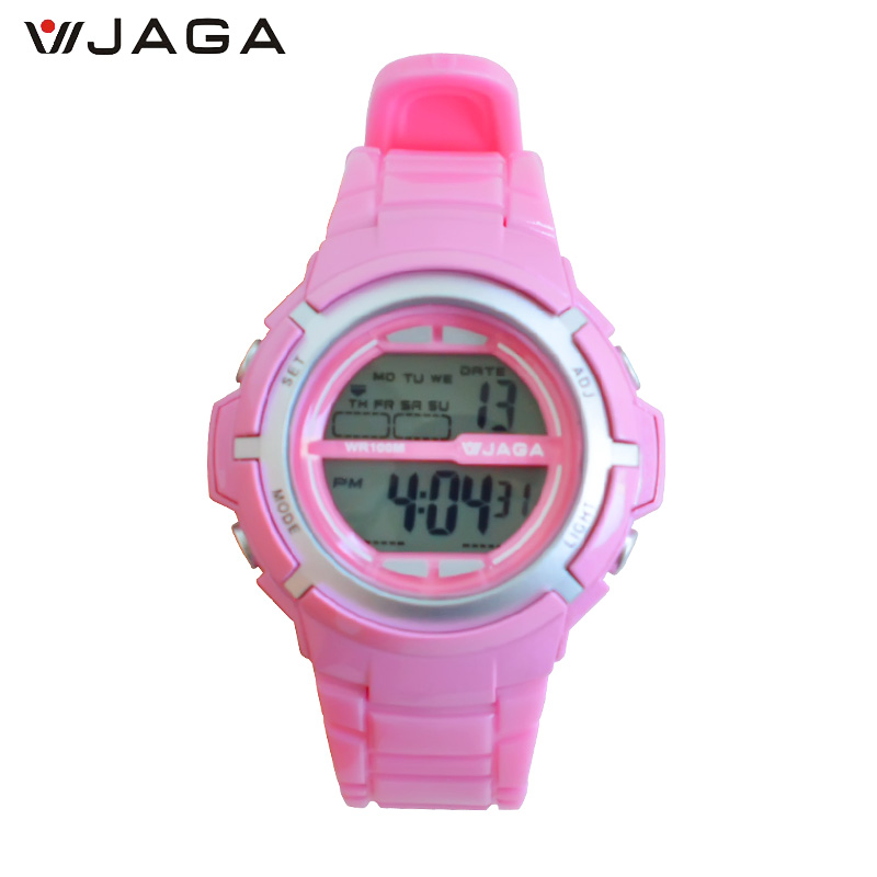 JAGA New Style Kids Sportklockor Vattentät Mode Casual Digital LED Multifunktion Armbandsur Horlogor Vrouwen M1085