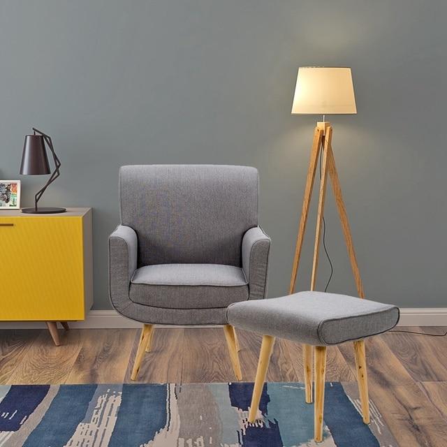 Armchair Stool Modern Accent Easy Fabric Tub Chair Sage Sofa