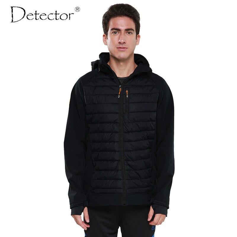 Détecteur 2016 hommes Softshell veste extérieure coupe-vent imperméable randonnée veste Sport vêtements chauds