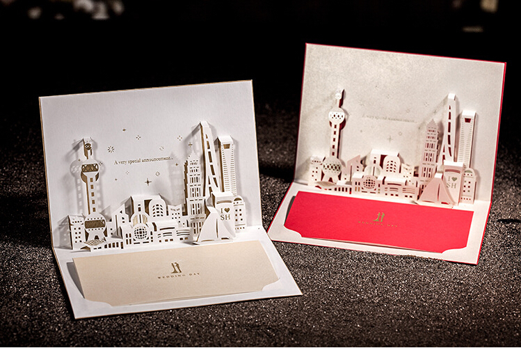 Free shipping 10pcslot 3d shanghai architecture paper cut pop up free shipping 10pcslot 3d shanghai architecture paper cut pop up wedding cards handmade business cards invitation cards on aliexpress alibaba reheart Gallery