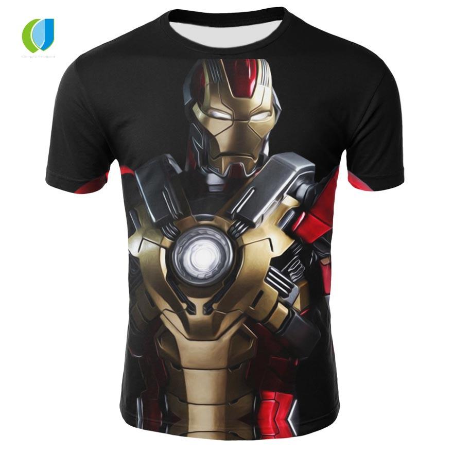 Kreative Sommer Männer der Marke 3D Druck Männer der Avengers T-shirt Triathlon USA Kapitän Ironman Schwarz Witwe Kühlen Top T-Shirt
