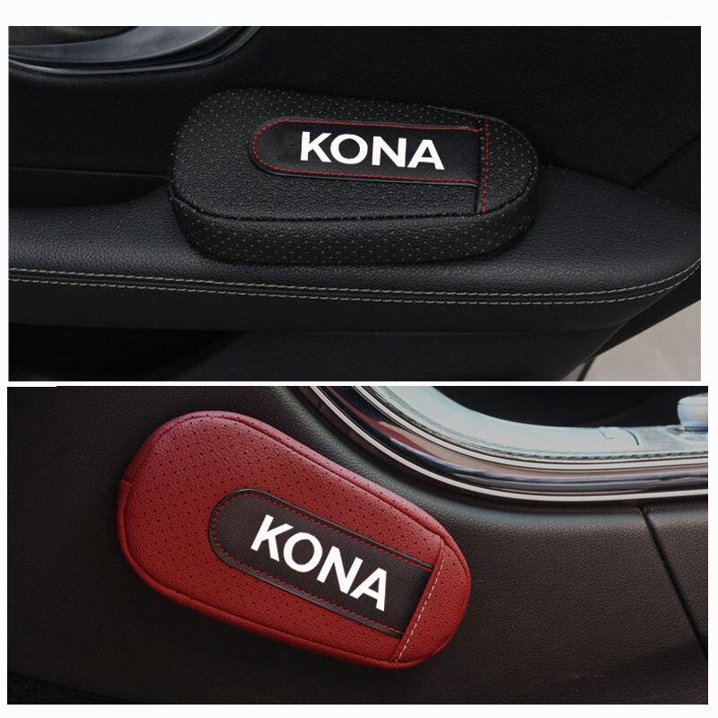 Otomobiller ve Motosikletler'ten Koltuk Destekleri'de Şık ve rahat bacak yastık dizlik kol dayama pedi iç araba aksesuarları Hyundai Kona title=
