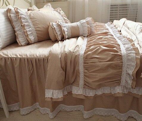 Ensemble de literie à volants en dentelle blanche de luxe, une fille - Textiles de maison - Photo 6