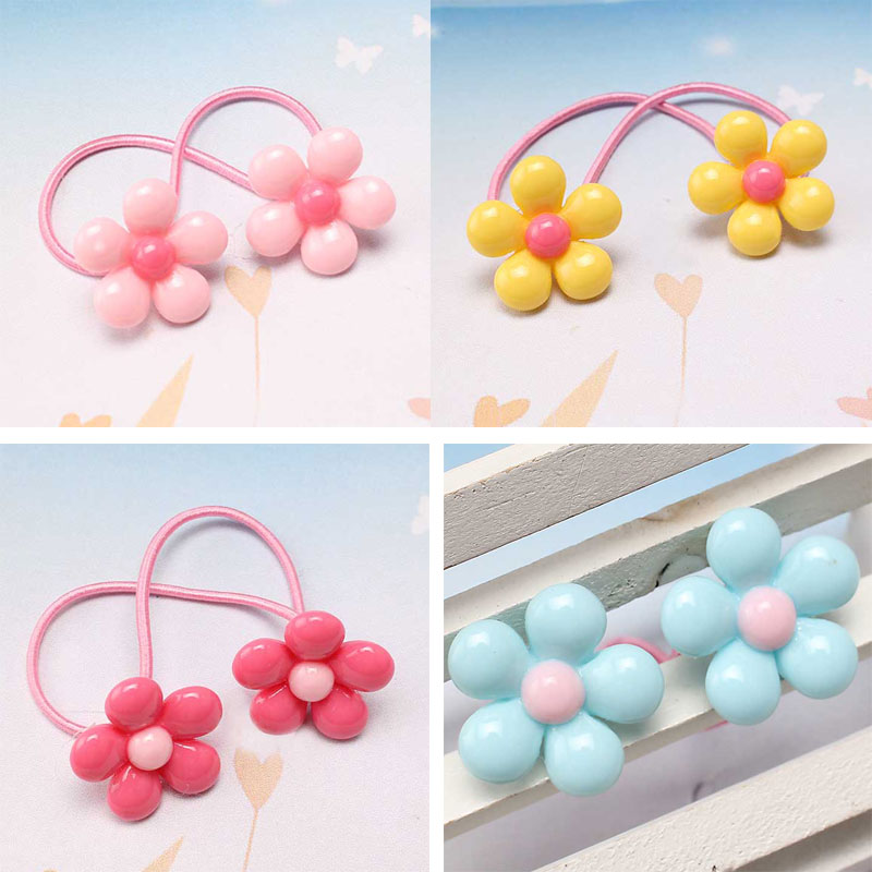 M MISM Fashion Flower Hair Elastic Band Cute Hair Accessories Rubber Band Headdresses for Kids Children Girls Scrunchy mism girl french hair bun maker multifunctional hair accessories for women fine roller curls styling holder curlers headbands