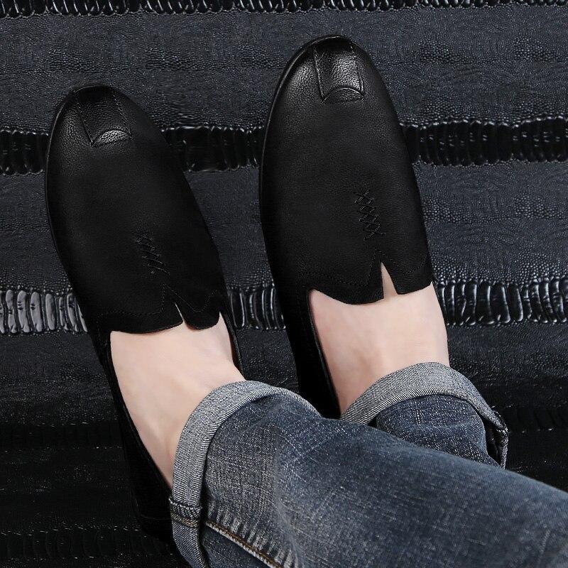 2018 nowy styl mężczyzna przypadkowych butów mokasyny czarny - Buty męskie - Zdjęcie 5