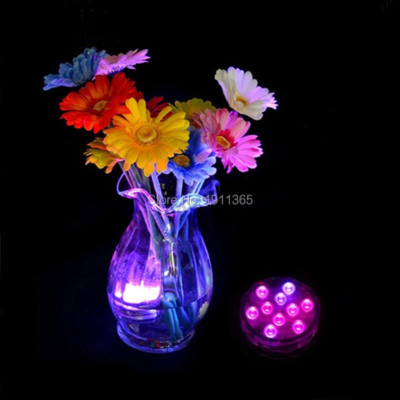 8 pcs LED Bougie Submersible Floral Tea Light Clignotant Décoration - Éclairage festif - Photo 5