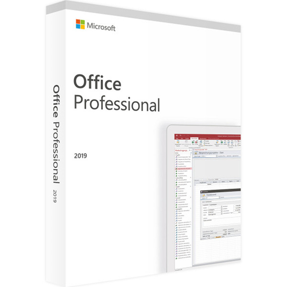 Microsoft Office Professional 2019 For Windows 10 License Software 1 Product Key DVD Version With Retail Boxed | 1 User/1 Device(China)
