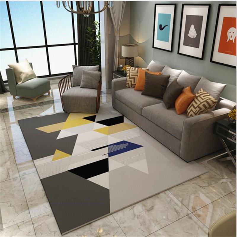 Geometric Creative Carpet For living Room Bedroom Kid Room Delicate Thicker Large Rug For Kid Play Meeting Room Home Floor Mat