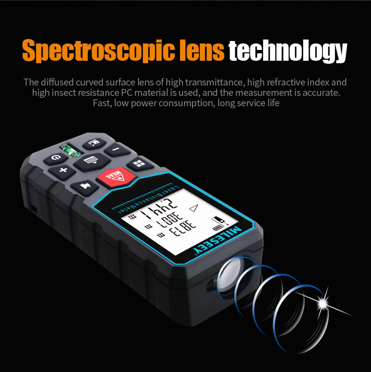 MiLESEEY Laser Distance Meter with Auto Laser Off and for Volume and Area Measurement 7