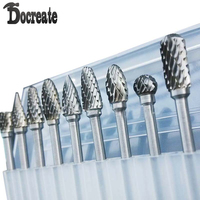 New 10pc 1 8 Shank Tungsten Carbide Milling Cutter Rotary Tool Burr Double Diamond Cut Rotary