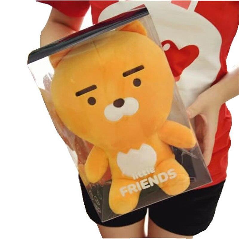 Korean super star little Kakao Friends Plush Toy Ryan Cocoa Dolls Cartoon Figure Soft Cushion Kids girl boy Birthday Gifts