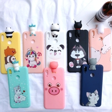 Y7 3D Case for Huawei Y7 2019 Phone Case Kawaii Bear Unicorn Silicone