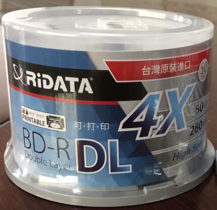Livraison gratuite disque blue ray BD-R 50 GB bluray DVD BDR 50g jet d'encre imprimable 4X10 pièces/lot