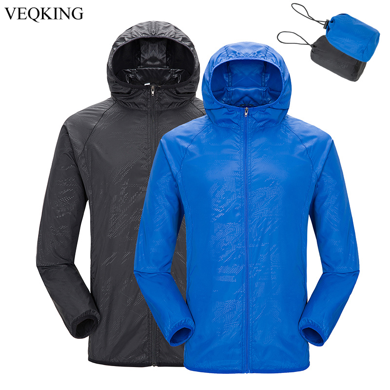 VEQKING Women Men Lightweight Sun-Protective Jacket Water repellent Anti-UV Skin Coat Outdoor Sports Hiking UV Protective Jacket(China)