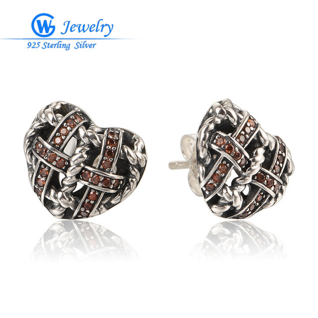 Gw Fine Jewelry New Style Silver 925 Jewelry Braided Heart Earings Fashion Jewelry For Women ER1056H30