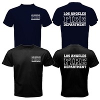 Gildan Los Angeles Fire Department T Shirt Men Search And Rescue San Andreas Movie Casual 100
