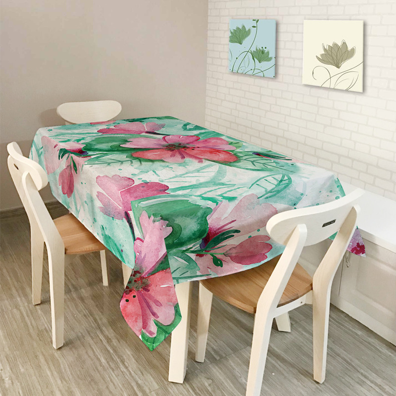 American style Rural New Home decor Psychedelic plant flowers Scenic Table Cloth Dining Tablecloth Coffee Restaurant Cloth Cover