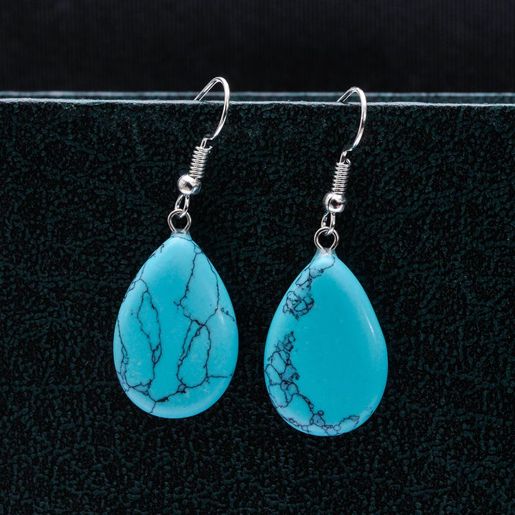 New model 2016 fashion turquoise stone earrings for women for Tile fashion 2016