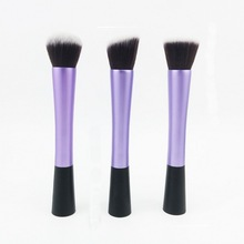Merrynice HOT! 3pcs/set Pro Foundation Blush Blending Eye shadow Makeup Brush Cosmetics Flat Round Angled Tapered Top Brush