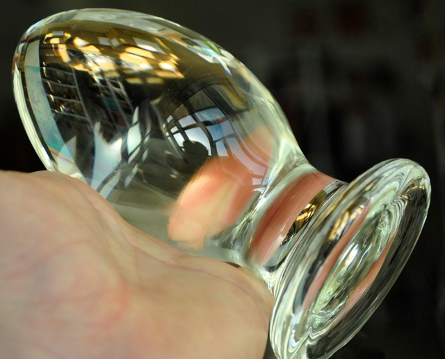 Huge crystal dildo big ball sex toy for women