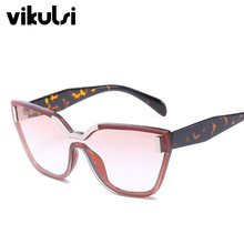 High Quality Brand Square Sunglasses Women 2018 Rimless Frame Clear Candy Color Sun Glasses Ladies Blue Pink CatEye Shades UV400