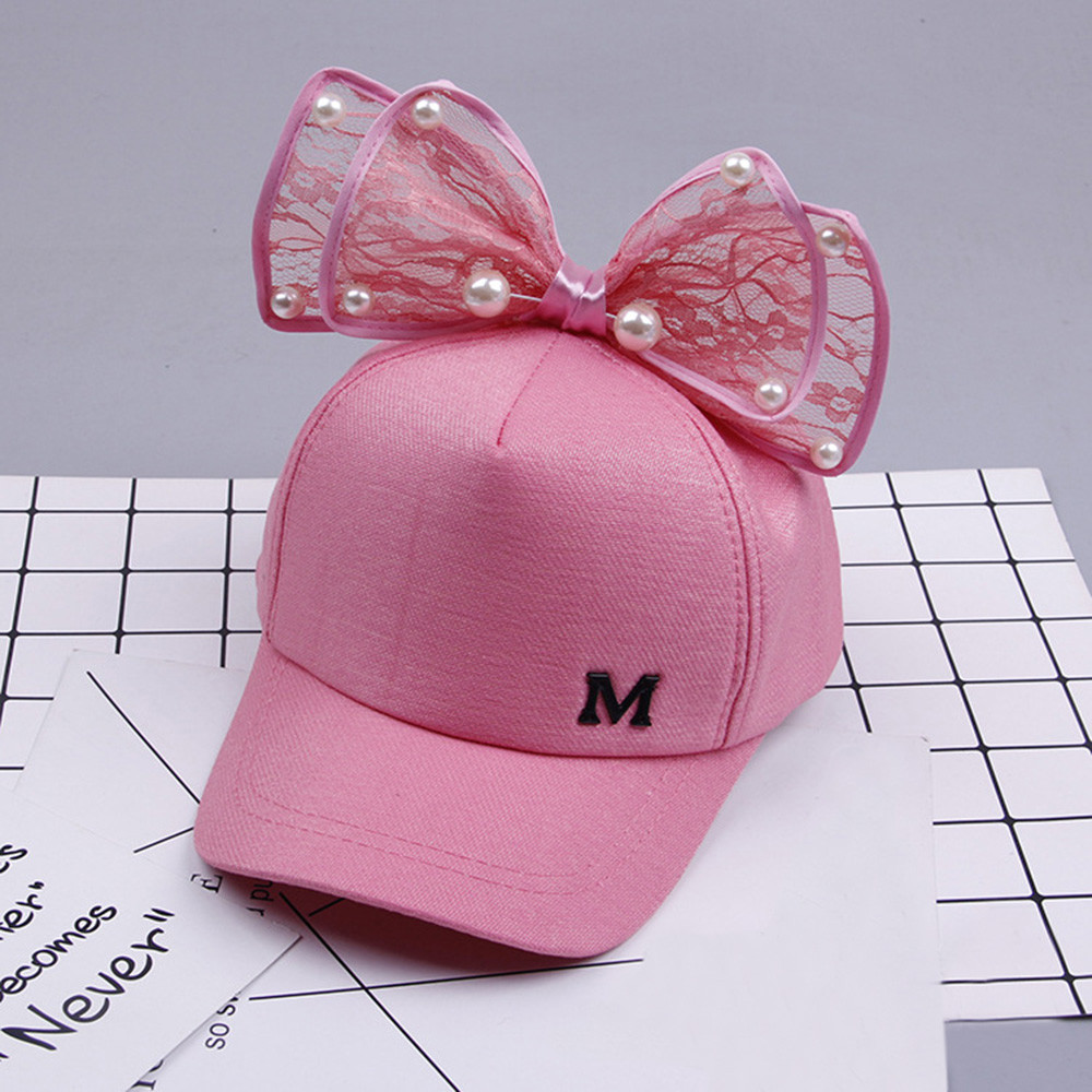Cute Pearl Bongrace Hat Baby girl cute bowknot corner baseball cap child rebound summer adjustable sun hat child hip hop hat fashion baseball caps women hip hop cap floral summer embroidery spring adjustable hat flower ladies girl snapback cap gorras