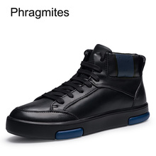 Phragmites Casual Shoes Genuine Leather Sneakers Men Small Size 36 Bot High Quality Sale Winter Boots Short Plush Snow Erkek