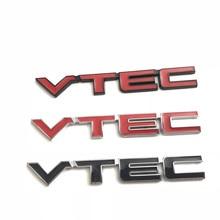цена на Metal 3D Car Feder Trunk Sticker VTEC Logo Badge Decal Chrome Accessories For Honda Civic Accord Odyssey Spirior CRV Car Styling
