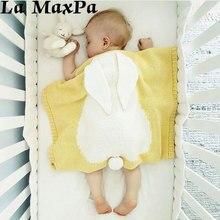 Cute Baby Blankets Infant Kids Rabbit Soft Warm Wool Swaddle Bath Towel Lovely Newborn Bedding Props