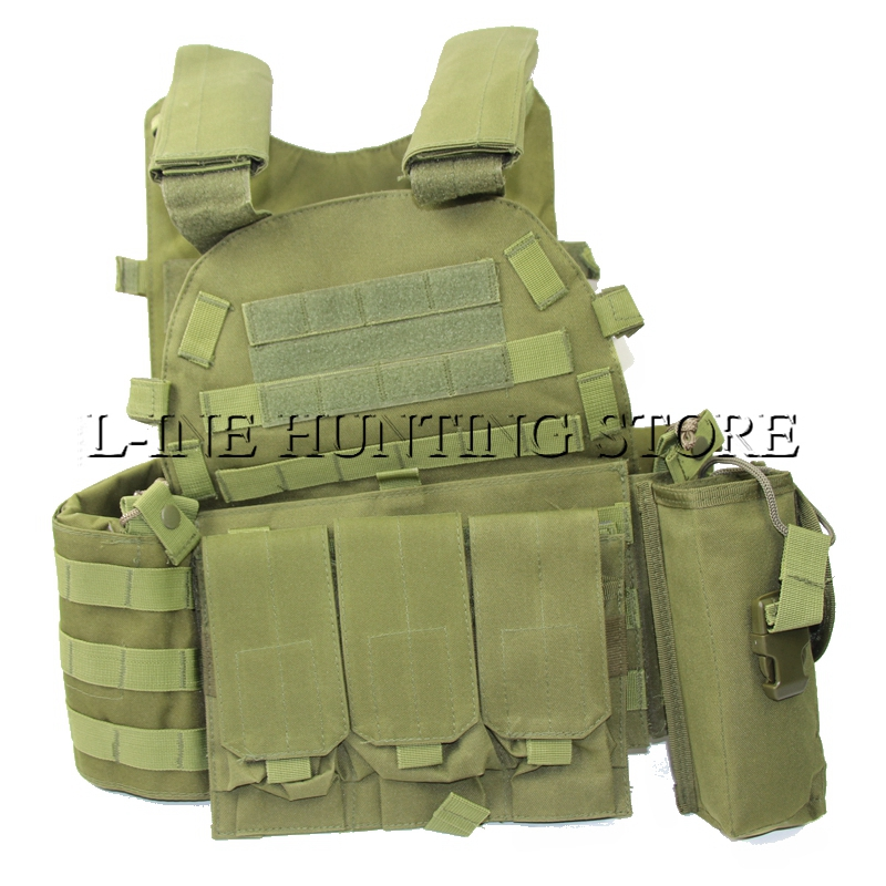 Army Fan Load Bearing Combat Vest Training Hunting Men Women Tactical Vest MOLLE Outer Airsoft Vest Black Soft for Paintball