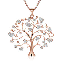 Fashion necklace personality luxurious necklace Crystal life tree pendant necklace pendant  jewelry N512