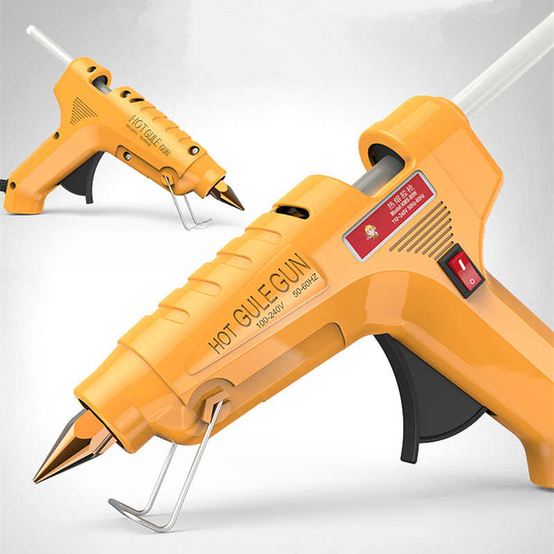 30W 60W 100W Hot Melt Glue Gun with 1pcs 7mm/11mm Glue Stick Industrial  Mini Guns Thermo Gluegun Heat Temperature power Tool
