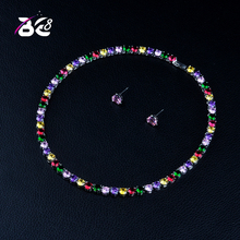 Be 8 Brilliant Cubic Zirconia Multicolor Dubai Bridal Jewelry Sets for Women Wedding Accessories Fashion Jewelry Gifts S372 цена и фото