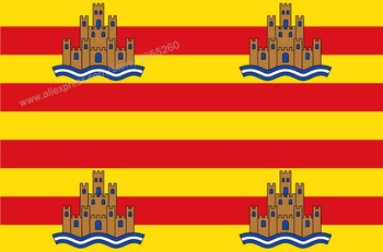 Flag of Ibiza Balearic Islands 3 x 5 FT 90 x 150 cm Spain Flags Banners image