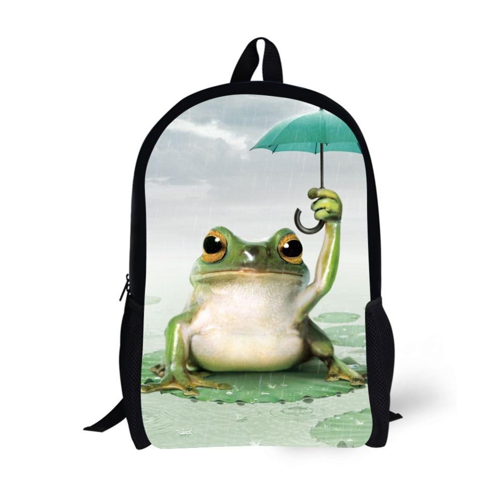 Animal Frog Printing Backpack Bag Children School Bags For Teenager Boys girls Backpacks Laptop