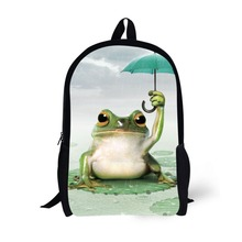 Animal Frog Printing Backpack Bag Children School Bags For Teenager Boys girls Backpacks Laptop Backpack dispalang cute dog computer backpack for teenager animal 3d print laptop school bags for children tourism shoulder book bag