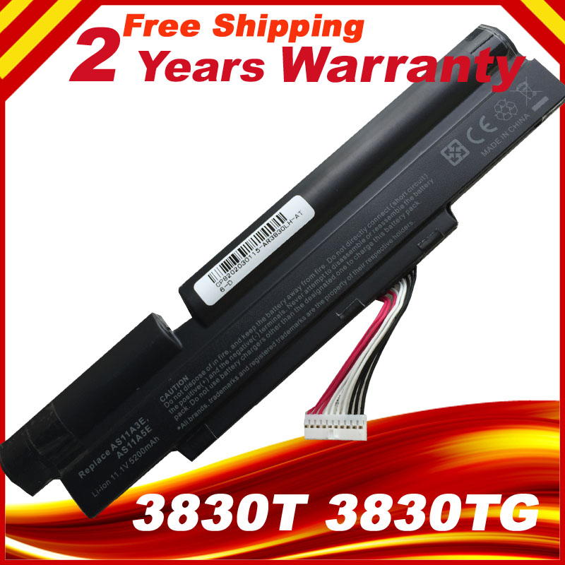 11.1V Laptop Battery For Acer 3INR18/65-2 AS11A3E AS11A5E Aspire TimelineX 3830T 4830T 5830T 3830TG <font><b>4830TG</b></font> image