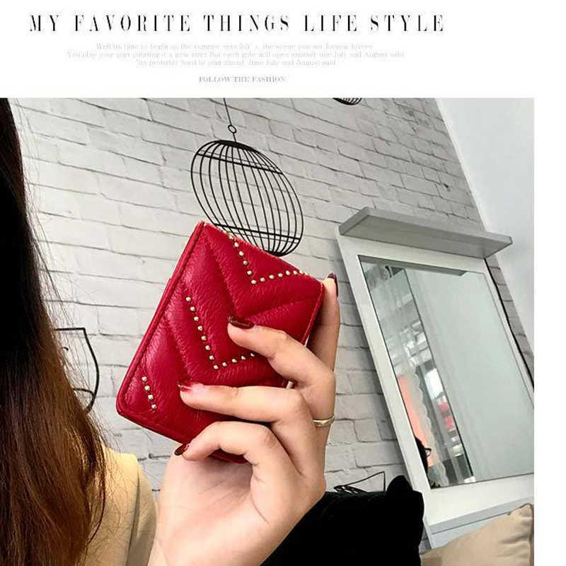 Batom Caso Mini com Espelho Pequeno Make-up Bag Marmont Boca Red Jóias Da Marca Mulheres Couro Genuíno Carteira de Moda portátil
